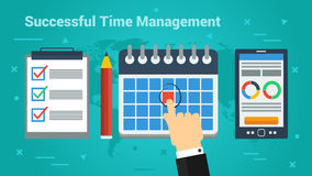Business Banner - Successful Time Management Royalty Free Stock Photos