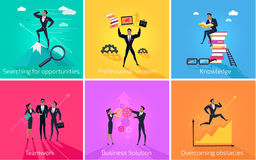 Business Banner Teamwork and Solution Royalty Free Stock Photo