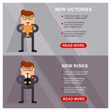 Business banner victories Stock Photo