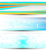 Business banners. Colorful banners   water, windows Stock Images