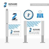 Business banners ads design with logo and creative design vector Royalty Free Stock Photography