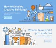 Business banners. Creative process. Teamwork. Stock Photography
