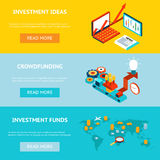 Business banners. Crowdfunding, investment ideas Royalty Free Stock Images