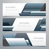 Business banners set of three professional headers Royalty Free Stock Photography
