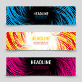 Business banners template with colorful spirals Royalty Free Stock Photography