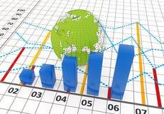 Business bar chart Royalty Free Stock Photo