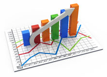 Business bar chart Royalty Free Stock Photos