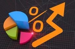 Business bar chart Stock Photography