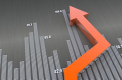 Business bar chart Royalty Free Stock Images
