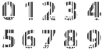 Business Bar Code Alphabet Numbers. Vector Royalty Free Stock Images