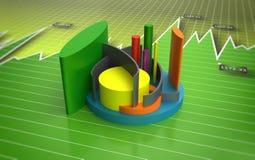 Business bar graph. A modern business bar graph with financial data Stock Photos
