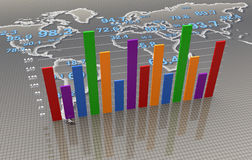 Business bar graph Stock Images