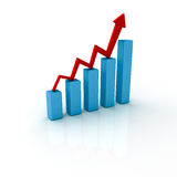Business Bar Graph Royalty Free Stock Image