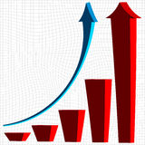Business bar graph Royalty Free Stock Photos