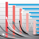 Business bar graph. Bar graph can be used in business and finance work Stock Photo