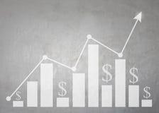 Business bar graph and grow arrow. Stock Images