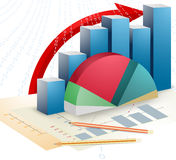 Business and bar graph Stock Photography