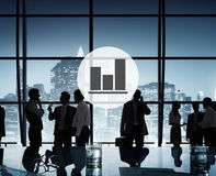 Business Bar Graph Progress Report Concept Royalty Free Stock Photography