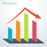 Business bar graph success and down. Vector illustration Royalty Free Stock Image