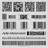 Business barcodes and QR codes royalty free illustration