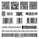 Business barcodes and QR codes vector set Royalty Free Stock Image