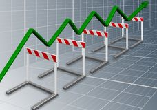 Business barriers Stock Photography