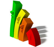 Business bars chart. Illustration of business bars chart stock illustration