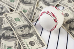 Business of baseball and money Royalty Free Stock Images