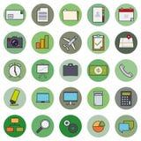 Business Basic Round Icon Vector Set 1 Stock Photos