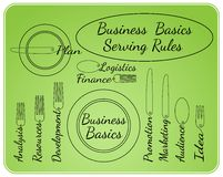 Business basics serving rules Stock Images