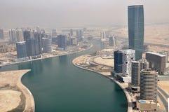 Business Bay Area in Dubai Stock Photo