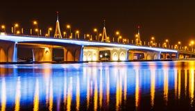 Business Bay Bridge. Night shot of the business bay bridge Royalty Free Stock Images