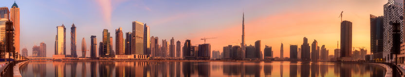 Business bay of Dubai, UAE Royalty Free Stock Images