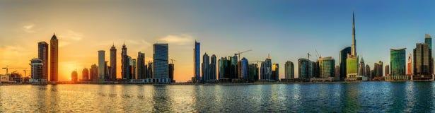 Business bay of Dubai, UAE Stock Image