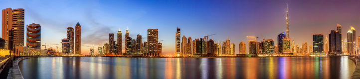Business bay of Dubai, UAE Royalty Free Stock Image