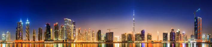 Business bay of Dubai, UAE stock image