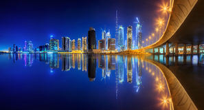 Business bay of Dubai, UAE stock images