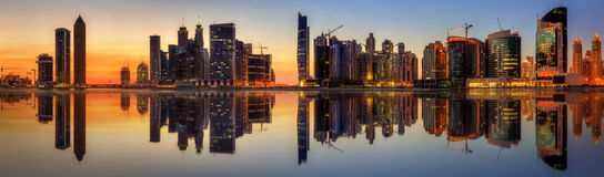Business bay of Dubai, UAE royalty free stock photography