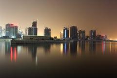Business bay at night, Dubai Stock Images
