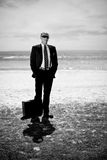 Business on the beach. Business man on the beach Stock Images