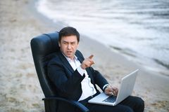 Business on the beach Stock Image