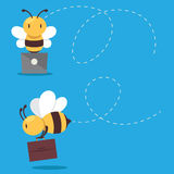 Business bee Royalty Free Stock Images
