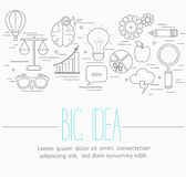 Business big idea symbols Royalty Free Stock Photos