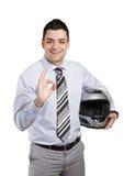 Business biker Stock Photo