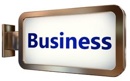 Business on billboard background. Business wall light box billboard background , isolated on white Stock Image