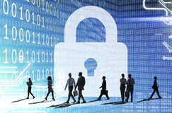 Business Binary Code Data Lock Concept Royalty Free Stock Images