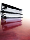 Business Binders on Desk Stock Image