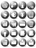 Business black icon set. Black business web icon set vector illustration