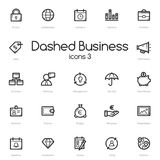 Business black line icons set Royalty Free Stock Images