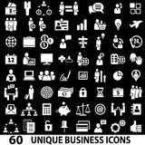 Business Black. Set of 60 business icons. White and black Royalty Free Illustration